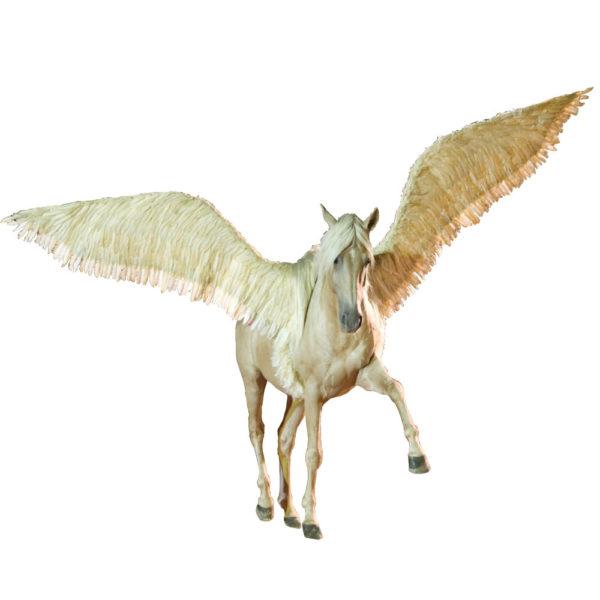 Ailes de pégase pour cheval motorisée téléguidée plume de canard