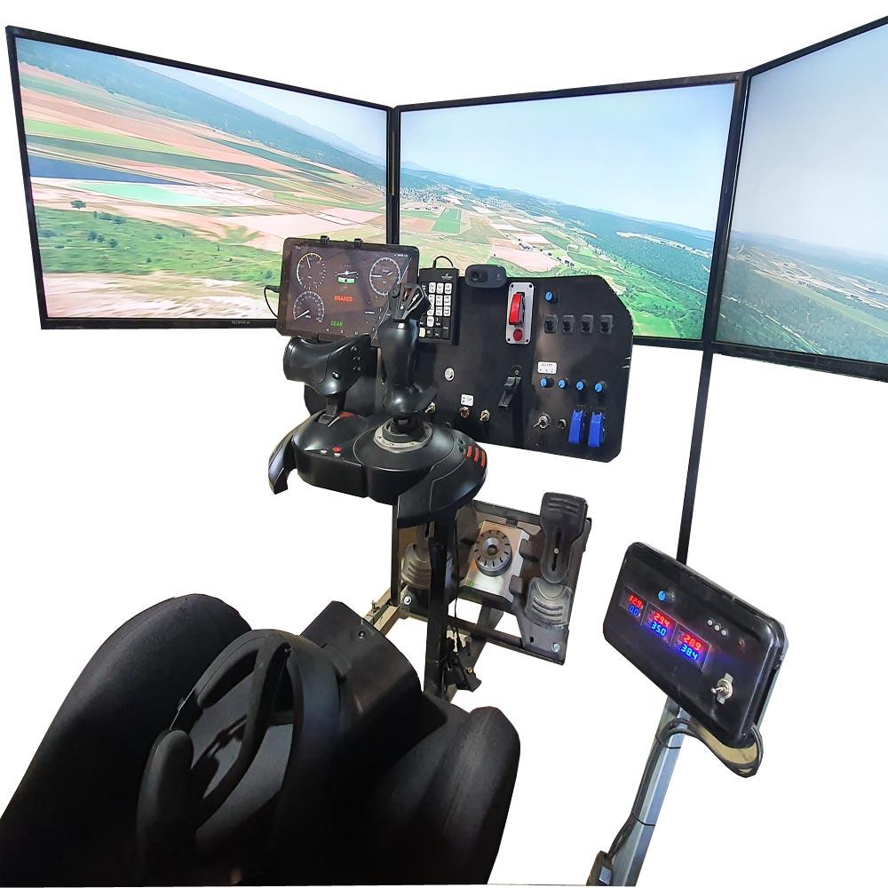 Simulateur motorisé avion voiture pendulaire 2DOF 3DOF